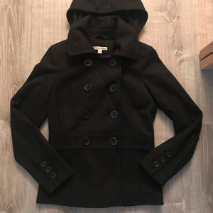 Women's American Rag Black Pea Coat